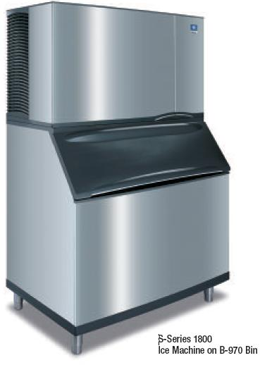 Manitowoc S-Series 1800 Ice Machine on B-970 Bin